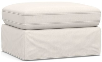 Pottery Barn PB Air Square Slipcovered Sectional Ottoman