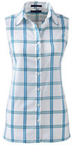 Lands' End Women's Sleeveless No Iron Shirt-True Blue