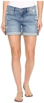 Lucky Brand The Roll Up Shorts in Blue Palms Women's Shorts