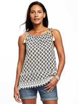 Old Navy Tie-Strap Crochet-Hem Cami for Women