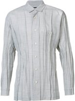 Issey Miyake pleated shirt - men - Polyester/Wool - 3