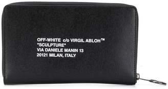 Off-White Off White logo zipped wallet