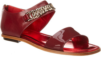 Tod's Leather & Patent Sandal