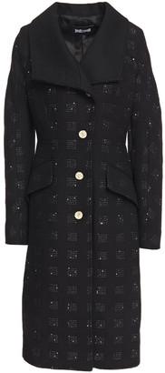 Just Cavalli Sequin-embellished Metallic Jacquard Coat