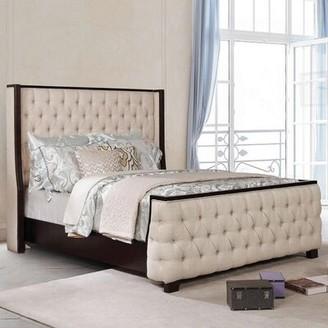 Red Barrel Studio Santori King Tufted Upholstered Platform Bed