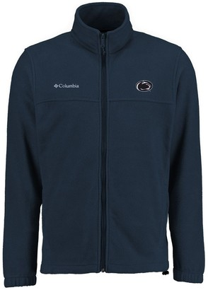 Men's Columbia Navy Penn State Nittany Lions Big & Tall Flanker II Full Zip Jacket