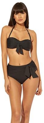 Bleu Rod Beattie Urban Goddess Knot Front Bandeau Top with Molded Cups (Black) Women's Swimwear