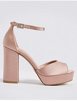 M&S Collection Block Heel Two Part Sandals