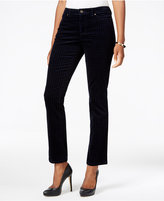 Charter Club Petite Houndstooth Tummy-Control Corduroy Pants, Only at Macy's