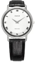 Jowissa Women's J4.029.L Opera (Mineral) Stainless-Steel Sunray Dial Black Leather Watch