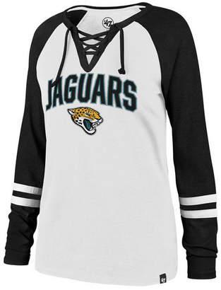 '47 Women Jacksonville Jaguars Lace Up Long Sleeve T-Shirt