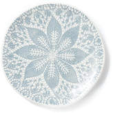 Vietri Set of 4 Lace Dessert Plates - Gray
