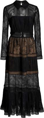 Self-Portrait Self Portrait Ruffled Chantilly-Lace Dress