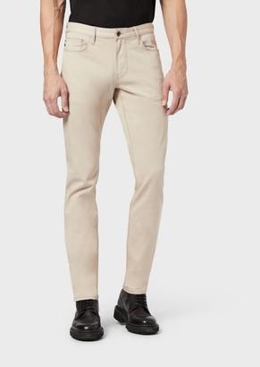 Emporio Armani Slim-Fit J06 Jeans In Cotton Gabardine