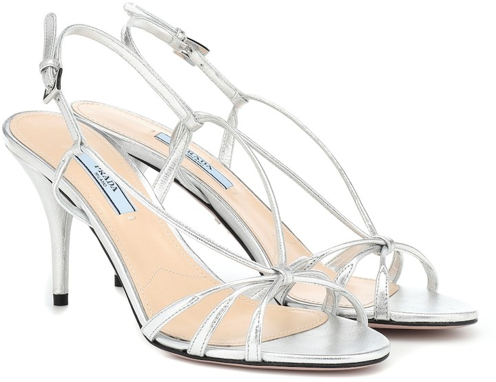 0b04360aa7a43 Prada Silver Sandals For Women - ShopStyle UK
