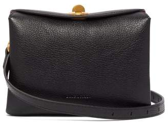 Balenciaga Flap Xs Grained-leather Cross-body Bag - Womens - Black