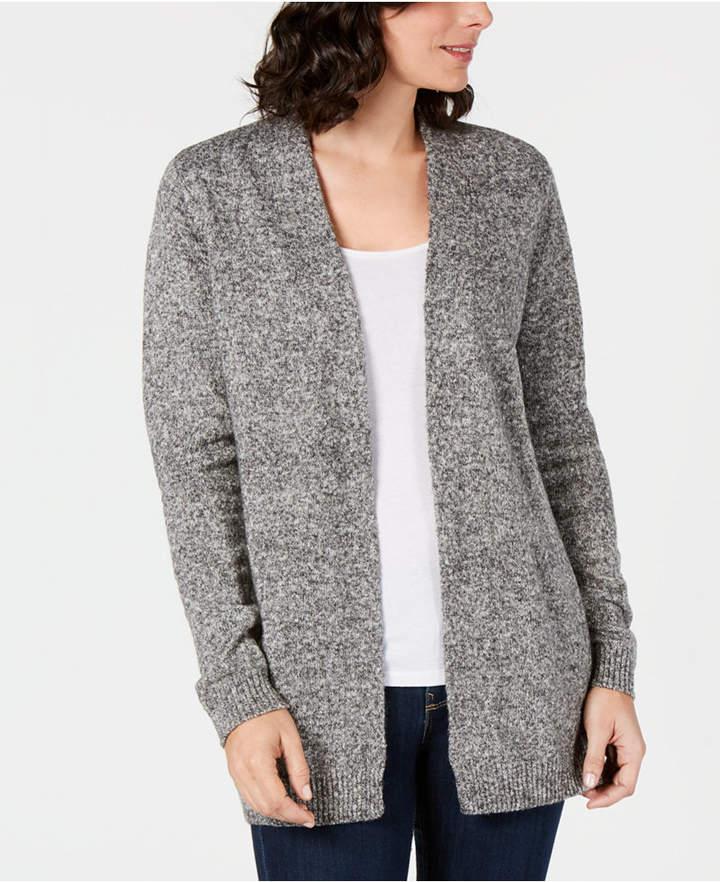 Karen Scott Open-Front Sweater Cardigan, Created for Macy's