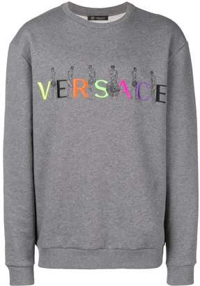 Versace embroidered logo sweatshirt