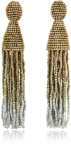 Oscar de la Renta Long Ombre Tassel Clip-On Earrings