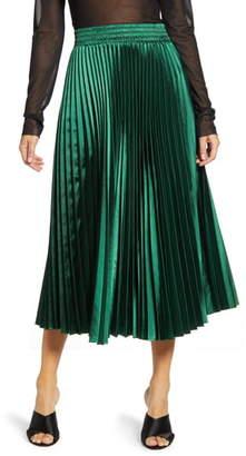 Endless Rose Sunburst Pleated Skirt