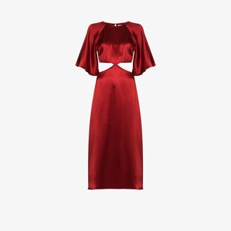 Reformation Noemi cutout silk dress