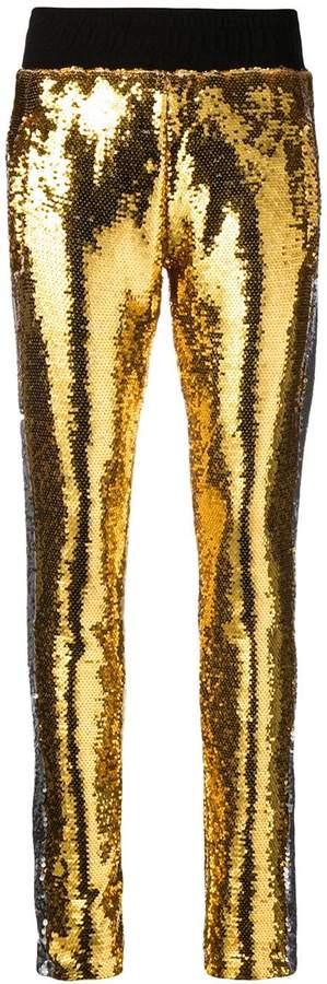Chiara Ferragni sequinned skinny trousers