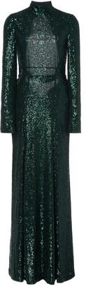 Galvan Modern Love Sequin-Embellished Cady Backless Dress