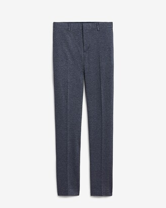 Express Slim Blue Luxe Comfort Knit Suit Pant