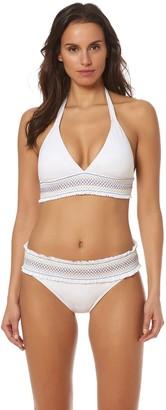 Bleu Rod Beattie Bleu | Rod Beattie Women's Smocked Band Halter Bikini Top