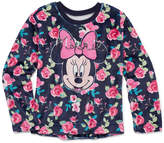 DISNEY MINNIE MOUSE Disney Crew Neck Long Sleeve Minnie Mouse Blouse - Big Kid Girls