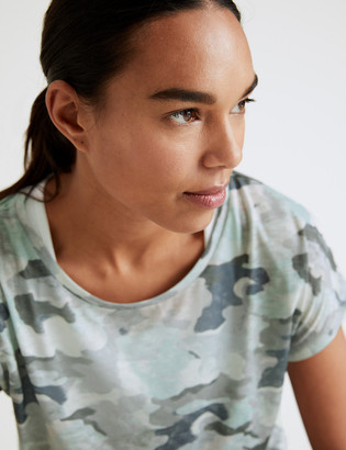 Marks and Spencer Lightweight Scoop Neck Relaxed T-Shirt