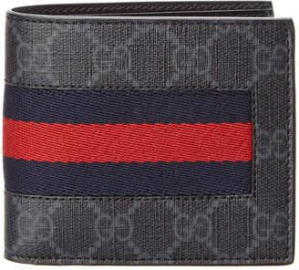 Gucci Web Gg Supreme Coin Bifold Wallet