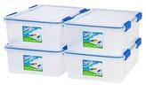 Iris Ziploc WeatherShield 26.5 Qt Storage Box - 4 Pack