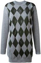 Alexander Wang argyle pattern jumper - women - Nylon/Rayon/Merino - M