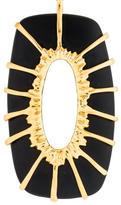 Alexis Bittar Black Metal Pendant Necklace