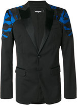 DSQUARED2 camouflage insert panel blazer - men - Silk/Cotton/Polyester/Virgin Wool - 46