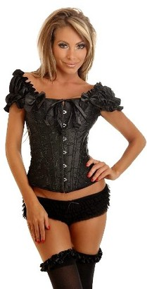 DaisyCorsets Women's Embroidered Peasant Top Corset