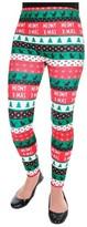 Women's Ugly Christmas Fleece Lined Seamless Leggings - Meowy X-mas