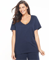 Nautica Plus Size Short Sleeve V-Neck Top