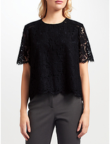 John Lewis Camille Lace Sleeve Top