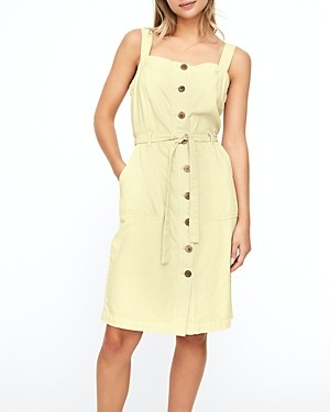 Vero Moda Adalie Button Front Belted Twill Dress