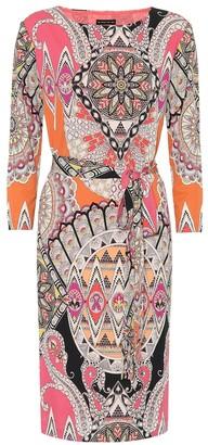 Etro Printed stretch-jersey midi dress