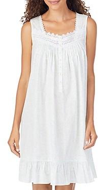 Eileen West Ruffle Hem Cotton Chemise Nightgown