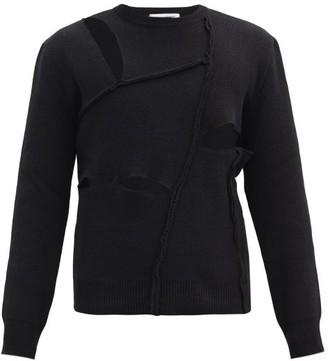 Comme des Garçons Shirt Cutout Wool Sweater - Black