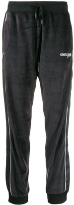 Roberto Cavalli contrast piping detailed track pants