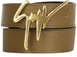 Giuseppe Zanotti Logo Buckle Belt