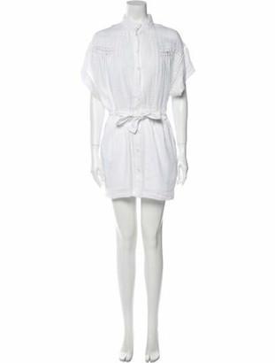 Frame Mock Neck Mini Dress w/ Tags White Mock Neck Mini Dress w/ Tags