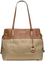 MICHAEL Michael Kors Marina North South Large Drawstring Tote Gold
