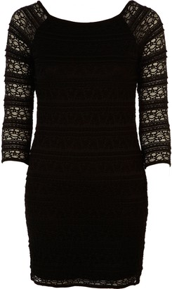 River Island Womens Black lace shift dress