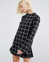 Selected Tunic Top in Check